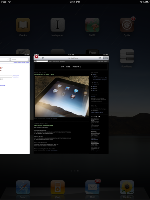 ipad jailbreak multifl0w