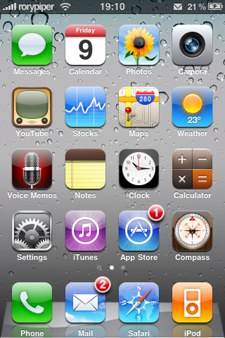 iphone os 4 theme