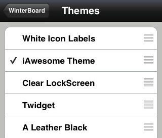 activate winterboard theme