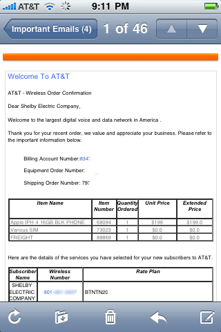 AT&T Ships iPhone 4