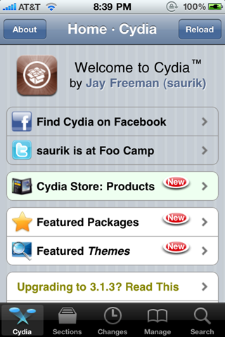 Cydia Jailbreak on iPhone 4