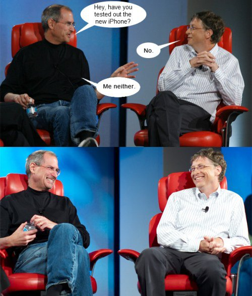 Jobs and Gates on iPhone 4