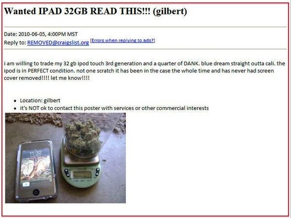 Marijuana iPad
