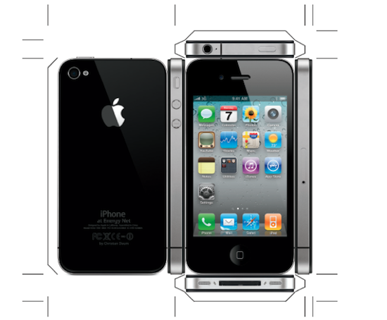 Can 39 t wait for the iphone 4 get this diy paper iphone 4 now for Iphone cut out template