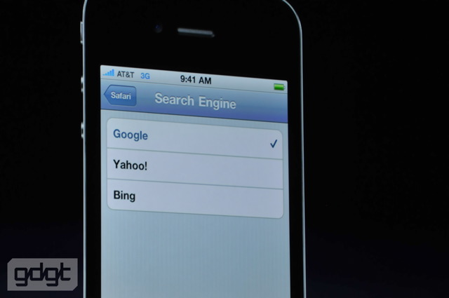 iPhone 4 Bing