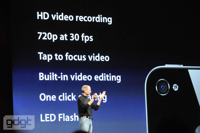 iPhone 4 HD video recording