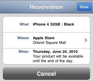 iPhone 4 Pre-Order on Apple Store App