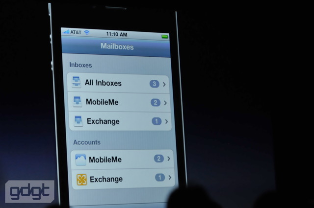 iPhone 4 Unified Inbox