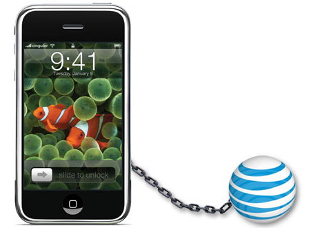 iPhone and AT&T Ball and Chain