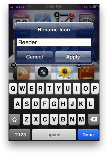Easily Rename Your iPhone App Icons From The Springboard