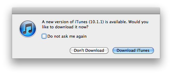 iTunes 10 1 1 is Out