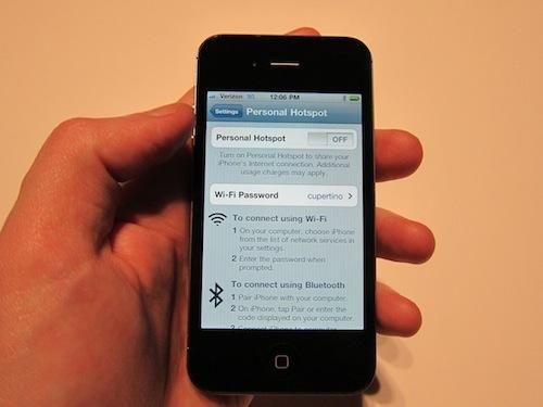 Verizon iPhone's Personal Hotspot Feature