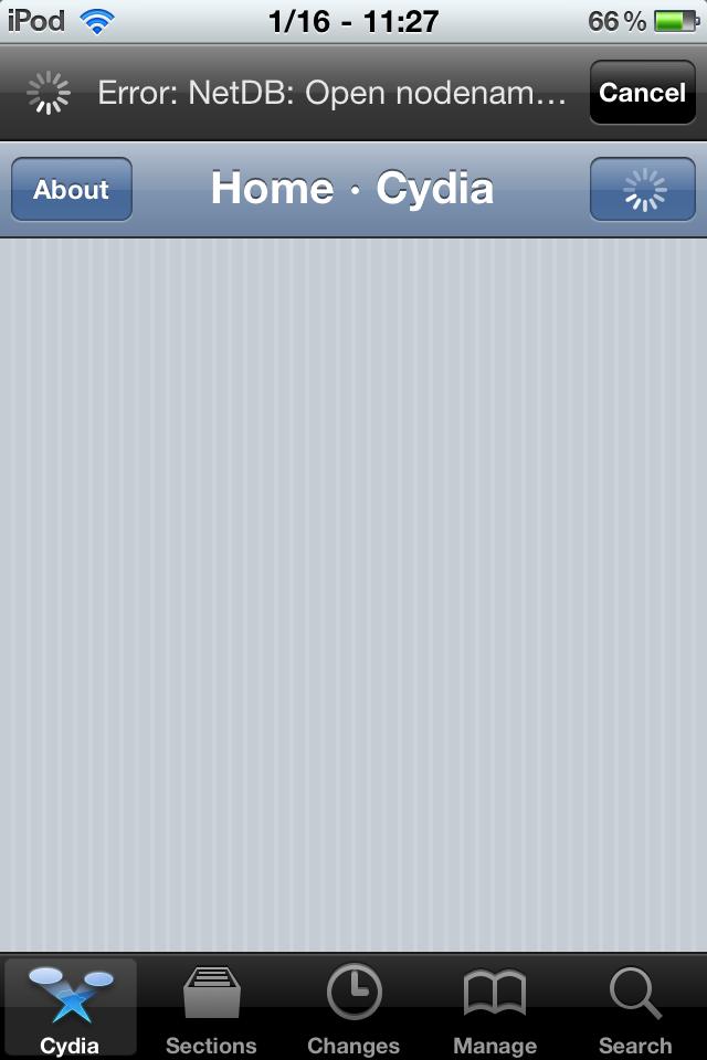 Cydia NetDB Error