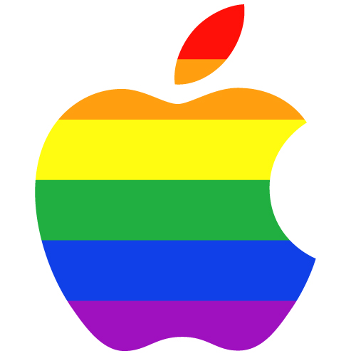 Apple logo gay