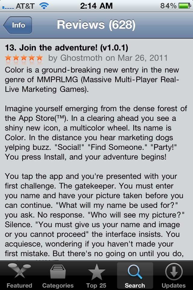 The Best App Store Review You've Ever Read