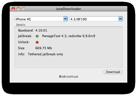 ipswDownloader Makes Downloading iOS Firmware Easy