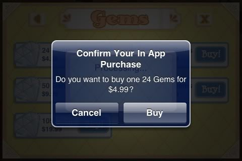 In-app game purchase