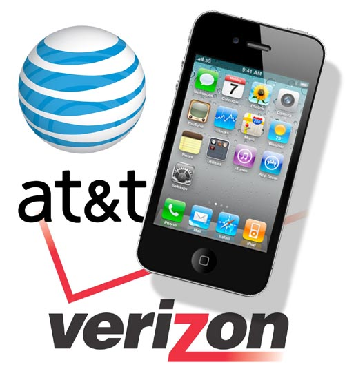Verizon ATT iphone 4 dual logo header