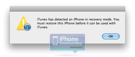 how to start recovery mode itunes