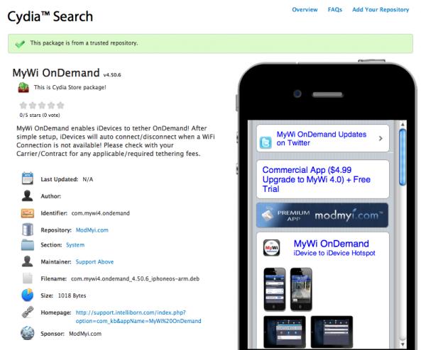 cydia app search