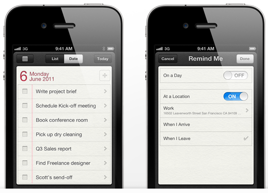 apple introduces its own to do list application reminders
