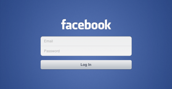 Facebook for iPad Log-In Screen