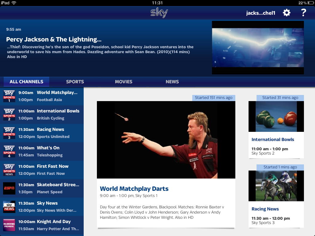 Sky TV Streaming App Now in the App Store