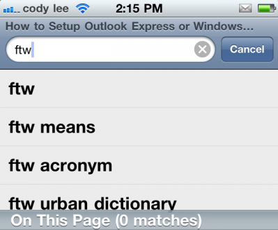 NoSearchCorrect: Disable Autocorrect in Safari Search Field [Updated]