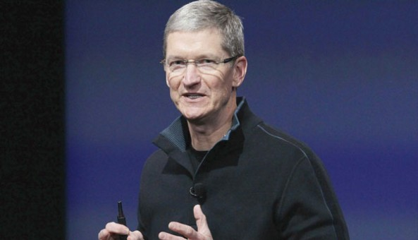 Tim Cook in action