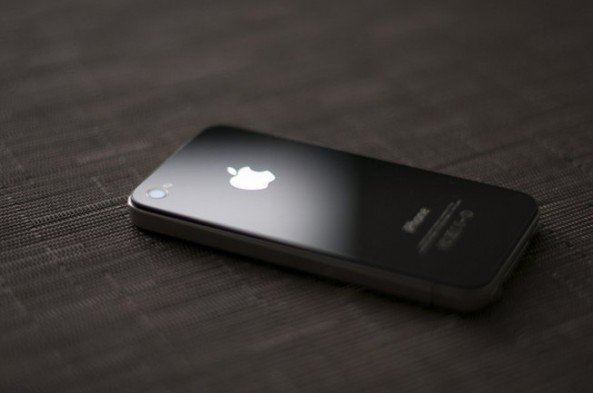 iphone 4 on table blacked out