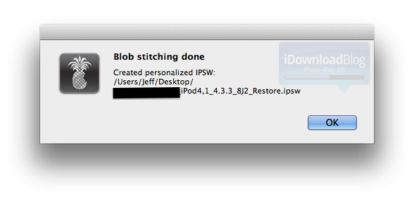 How to Stitch Your SHSH Blobs Using RedSn0w to Create