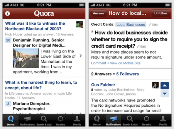 Get Your Questions Answered with Quora for iPhone