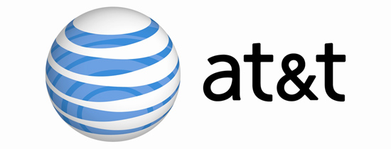 at&t with logo