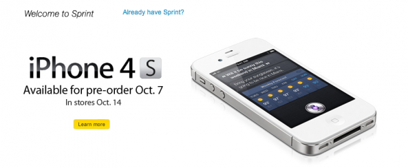 sprint iphone pre order sprint now taking iphone 4 pre orders 4s on friday 16187