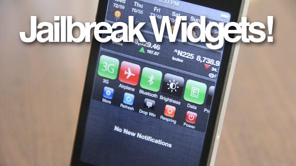 How to Enable Jailbreak Widgets in iOS 5