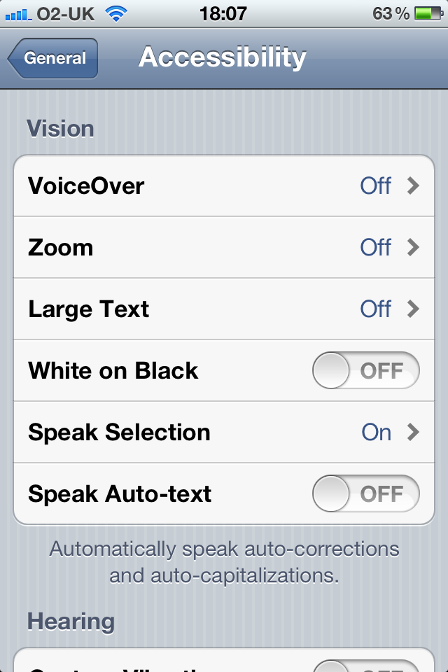 can you change the font on iphone how to use new text to speech accessibility feature in ios 5 19689