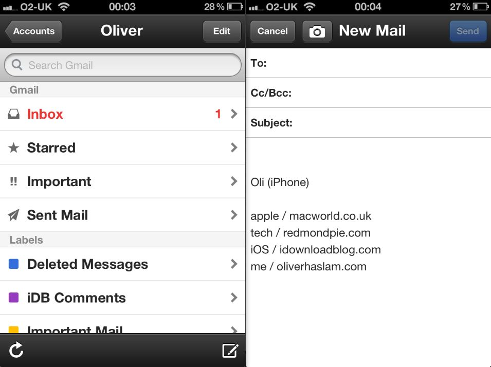 gmail app not connecting on iphone