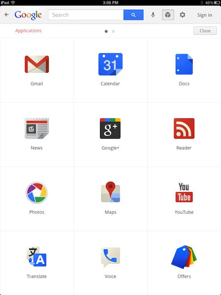 Google Gets Youtube Integration Official Chrome: Google Search For The IPad Gets A Facelift