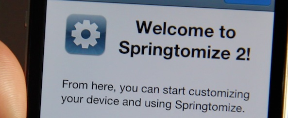 Springtomize 2 Welcome Message