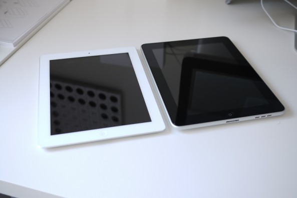 iPad and iPad 2 side-by-side