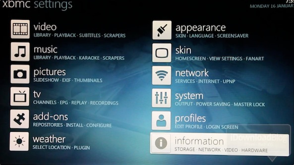 Customization XBMC