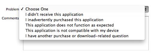 reembolso de la tienda de aplicaciones