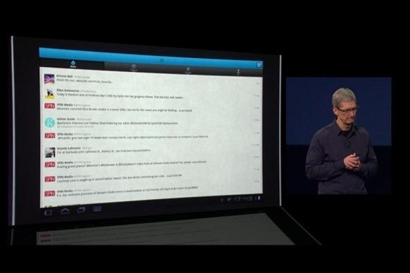 Tim Cook (iPad 3 keynote, Android apps)