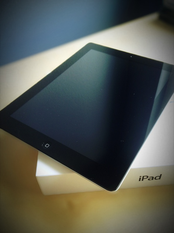 new iPad on box