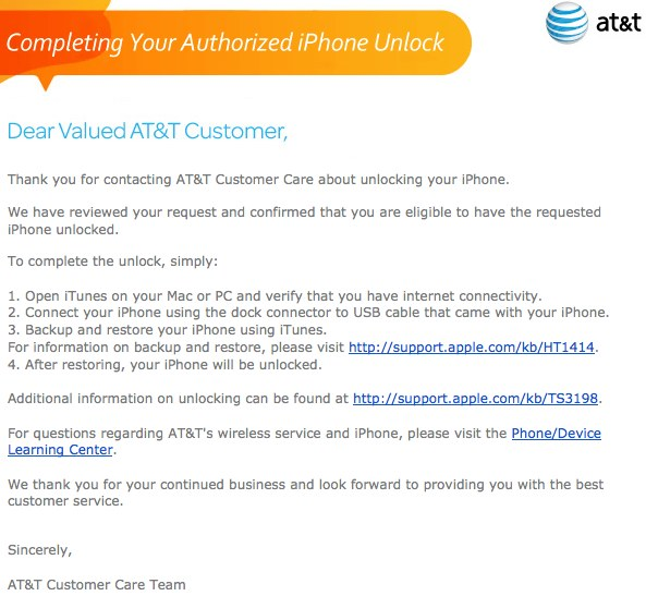 How to officially unlock your AT&T iPhone without losing