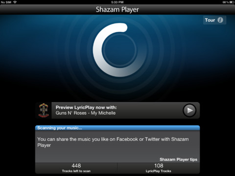 Shazam Player for iOS (iPad screnshot 004)