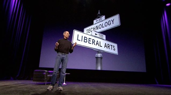 iPad introduction (Apple at intersection of technology and liberal arts)