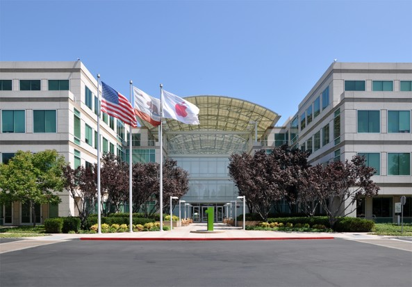 Apple headquarters (Cupertino, Clifornia, exterior 001)
