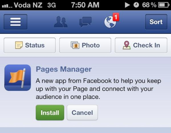 Facebook Pages Manager Gets Messaging, Check-in Insights