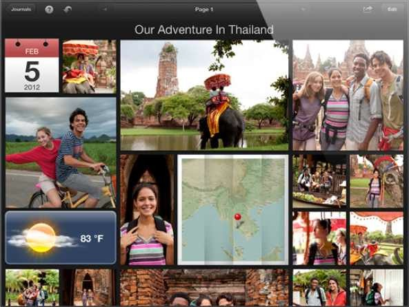 iPhoto for iOS (iPad, Photo Journals)